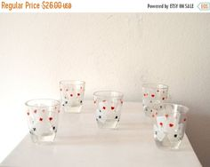 Fall Sale 1950's Mad Men Style Set of 5 by ZenVintageCollection