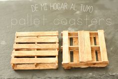Pallet coasters diy. Ideal to make for a party, dinner, as a present or gift!