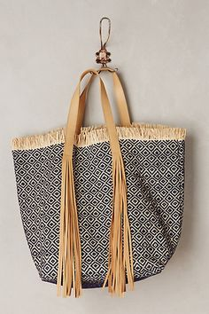 Vanessa Bruno Fringed Rivoli Tote #anthropologie
