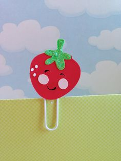 Love this...Strawberry Filofax Bookmark Page Clip Paperclip by KawaiiPaperie, $1.20