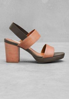 & Other Stories | Sling-back sandals | Green Bluish Dark