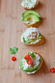 Flavor yogurt with Indian spice mix base and crab-and-avocado-topped toasts, named Pondicherry Toasts