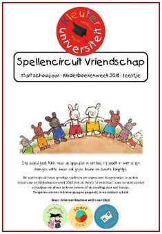 Kinderboekenweek 2018 vriendschap kleuters juf Anke Social Skills, Kids And Parenting, Internet Marketing, Coaching, Bunny, Comics, Bbq, Authors, Seeds