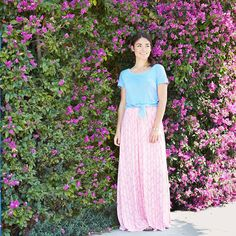 "If you're 5'3"" and under, you've got the green light to rock a maxi skirt! Read on for our Stylist's tips on getting the most flattering fit."