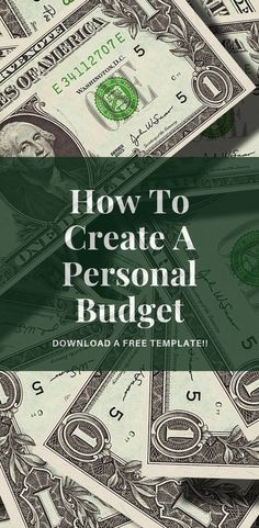 Learn how to create your own Personal Budget. We even provide you with a FREE Personal Budget template that can help guide you to success. This skill is a MUST for achieving Financial Freedom. #FinancialFreedom #PersonalBudget #Budget #Saving #Finance #Money