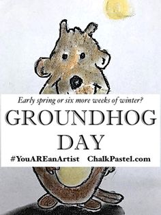 Will your groundhog predict an early spring or six more weeks of winter? Find the FREE video art lesson on our Spring Video Art Lessons page Learning Websites, Fun Learning, Spring Art, Early Spring, Art Lessons For Kids, Groundhog Day, Chalk Pastels, Back To School