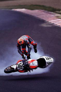"""over the limit … Anthony Gobert, Levi's Bimota-Suzuki SB8R, 2000 Japanese World Superbike round, Sugo """