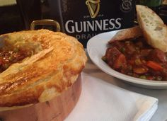 Guinness Beef Stew with Puff Pastry Top
