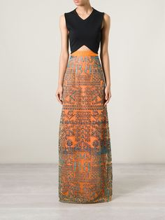 Mary Katrantzou 'alphabet' Maxi Skirt - D'na - Farfetch.com