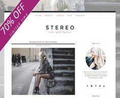 SALE ~ Stylish Responsive Blog by Boutique WebDesign Studio on @creativemarket