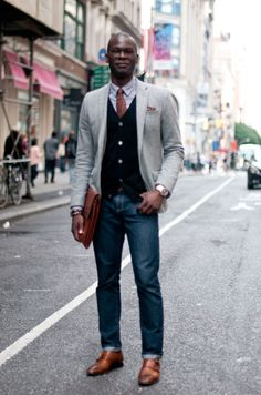 Street Style: The Natty Jewelry Designer  Goddamn, that's one handsome guy in a handsome outfit!