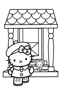 Hello Kitty Airplane Coloring Book