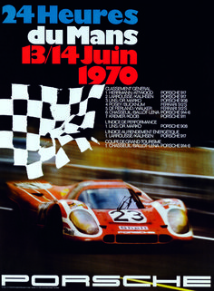 Porsche Poster for the 1970 Le Mans 24