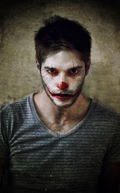 maquiagem halloween facil masculina de palhaço