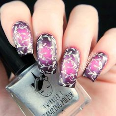Trendy Options for Ombre Nails For Any Occasion Radial Ombre Nail Art In Violet Shades ❤️ Over 30 Spicy Ombre Nails Transitions To Try! Beautiful Nail Polish, Beautiful Nail Designs, Fabulous Nails, Cute Nail Designs, Perfect Nails, Amazing Nails, New Nail Art, Cool Nail Art, Bright Red Nails