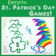 Easy games to play with kids to get some energy out this St. Patrick's Day!