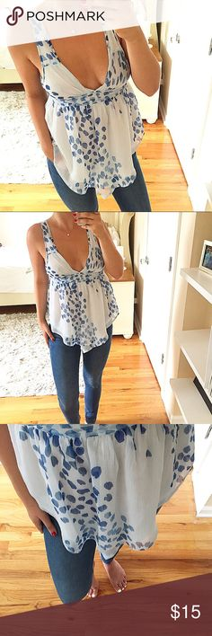 NWOT Abercrombie Top! Super cute top that fits and flows in all the right places! The material is super light and does not stick to the body. Has two layers so it is NOT sheer! Can be worn with or without a bra - FAST SHIPPING! Abercrombie & Fitch Tops