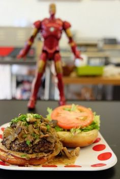 Delicious burgers in Oahu at a restaurant called Burgers and Things. Cool enviroment as well, the whole restaurant is comic book themed.
