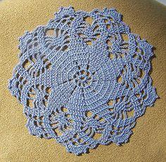 "Dollhouse Miniature Tablecloth / Doily 3"" Light Blue Crocheted New"