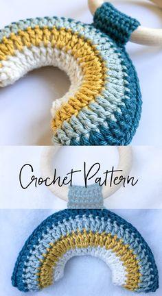 Crochet Baby Toys, Crochet Patterns Amigurumi, Crochet For Kids, Free Crochet, Knit Crochet, Newborn Crochet, Rainbow Crochet, Baby Patterns, Yarn Crafts