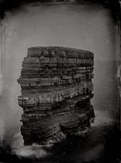 Dun Briste, 2012, wet-plate collodion (Digital print) Alex Boyd, photographer Pictures from the edges of the Northern Gaeltacht, the Irish-speaking area of County Mayo and one of the last true wilderness areas in Western Europe.