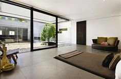 Every house should have a zen garden/courtyard!  Beautiful Penthouse with Three Landscaped Terraces    DesignRulz.com
