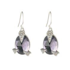 Crystal Encrusted Mosaic Lace Drop Earrings