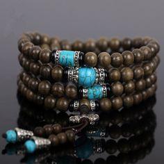 Natural ebony Prayer Beads Malas Buddha Bracelet //Price: $23.82 & FREE Shipping //     #Cool