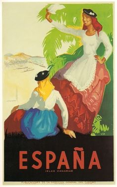 Spanish pre-civil war tourism poster by Joseph Morell Macías