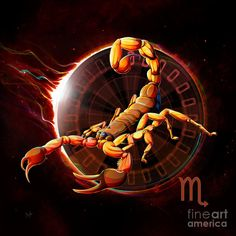 Horoscope Signs-scorpio Digital Art by Peter Awax