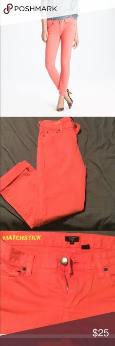 J crew - Coral matchstick pants size 28 Available in blue/purple J. Crew Pants Skinny
