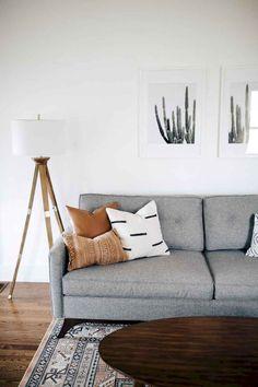 65 Minimalist Living Room Design Ideas - Home Design Living Room Grey, Living Room Modern, Living Room Furniture, Living Room Decor, Small Living, Living Rooms, Living Area, Modern Couch, Cabin Furniture