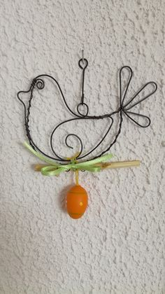 Ptáček / Zboží prodejce Iva Hejtmi   Fler.cz 3d Pen, Pen Art, Wire Art, Happy Easter, Art Projects, Rock, Christmas, Crafts, Vegetable Garden