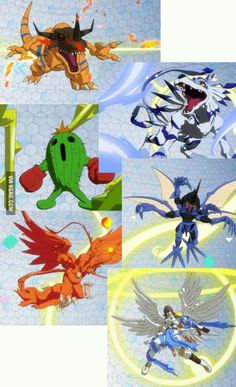 re back, b*tches! Digimon Crests, Digimon Adventure 02, Hunter Games, Digimon Frontier, Digimon Digital Monsters, Cartoon Games, Fantasy Creatures, Japanese Art, Best Funny Pictures