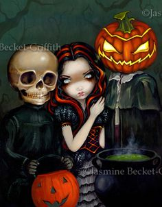 Out Trick-or-Treating | Art by Jasmine Becket-Griffith