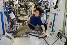 Depressurizing a part of the Space Station to vacuum...