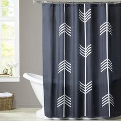 Found it at Wayfair - Melinda Wood Three Tribal Arrows Shower Curtain