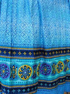 Bassetti SATIN Stoff STROMBOLI blau