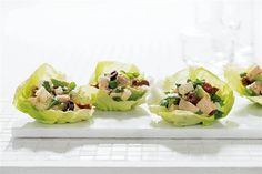 Chicken Chopped Salad in Butter Lettuce Cups