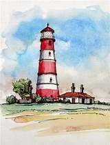 watercolor lighthouses - Yahoo Image Search Results