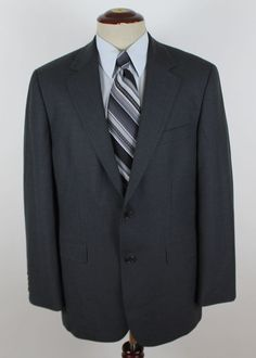 Brooks Brothers 346 Stretch Blazer Sport Coat size 40R Wool Blend Gray 2 Btn  #BrooksBrothers #TwoButton