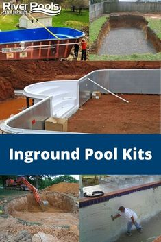 Are you thinking about buying an inground pool kit or doing a self-installation? In this article, we explore the types of inground pool kits, what they include, their prices, and more! Inground Pool Diy, Inground Pool Designs, Backyard Pool Designs, Small Backyard Pools, Homemade Swimming Pools, Diy Swimming Pool, Building A Swimming Pool, Diy Pool, In Ground Pool Kits