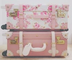 Love old suitcases and these Shabby Chic ones I really love.