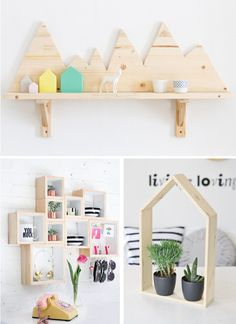 Live the nested boxes on the wall