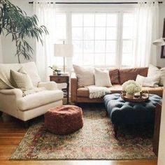 Kitnet & Studio Decoration: Designs & Photos - Home Fashion Trend Homedecor Living Room, Cozy Living Rooms, Furniture, Living Room Designs, Living Room Makeover, Apartment Living Room, Living Decor, Home Decor, Apartment Decor