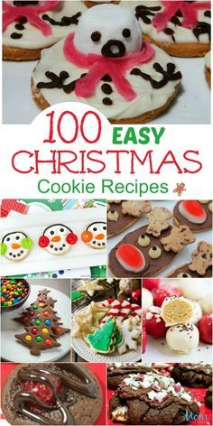 100 Easy Christmas Cookie Recipes You Must Try this Christmas! Christmas just wouldn't be Christmas without fun and cute Christmas cookies! Take a look at these 100 Easy Christmas Cookie Recipes you must try! Cute Christmas Cookies, Easy Christmas Cookie Recipes, Christmas Snacks, Xmas Cookies, Christmas Cooking, Holiday Desserts, Holiday Baking, Holiday Treats, Holiday Recipes