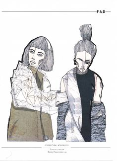 graduate fashion portfolio // Valentina Desideri I like the cubistic illustration. It looks really interesting. Fashion Sketchbook, Fashion Sketches, Fashion Illustrations, Illustration Fashion, Design Illustrations, Art And Illustration, Graphisches Design, Fashion Figures, Fashion Portfolio