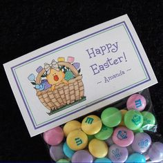 Personalized Easter Favor Bag Label Set Chick in by susiedees, $5.00