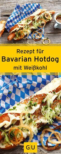 """Oktoberfest-Food vom Feinsten: Leckeres Rezept für Bavarian Hotdog. Ihr findet es in der Leseprobe zum Buch """"Streetfood"""".⎜GU"""