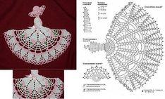 Angels Cradle: Crochet a bookmark doll Filet Crochet, Blog Crochet, Crochet Diy, Crochet Amigurumi, Crochet Girls, Crochet Diagram, Crochet Chart, Crochet Home, Thread Crochet